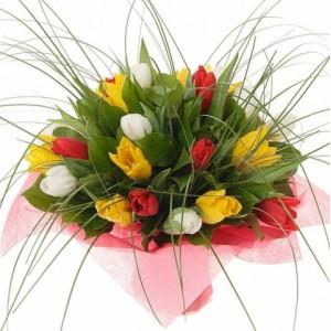 Букет из тюльпанов микс №1