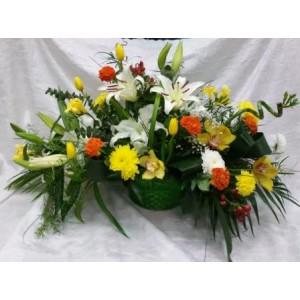 Корзина цветов №1