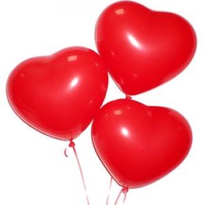 "Шарик ""Сердце красное"" 30см.(поштучно)"