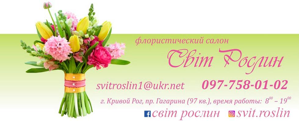 Заказ и  Доставка  Букетов  Цветов в Кривой Рог - Svitroslin.com